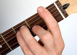 bar chord with thumb picture