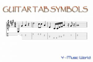 Guitar Tablature Symbols
