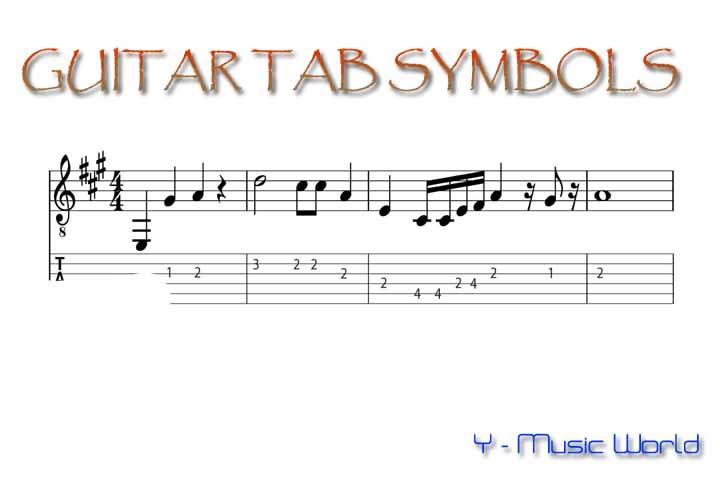Guitar Tablature Symbols