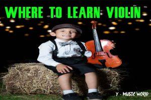 a boy learn violin